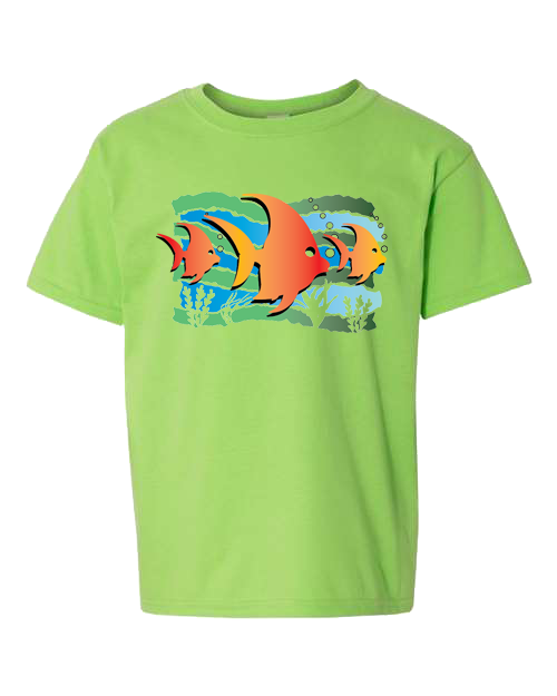 Fish Under The Sea Lime Toddler Tee