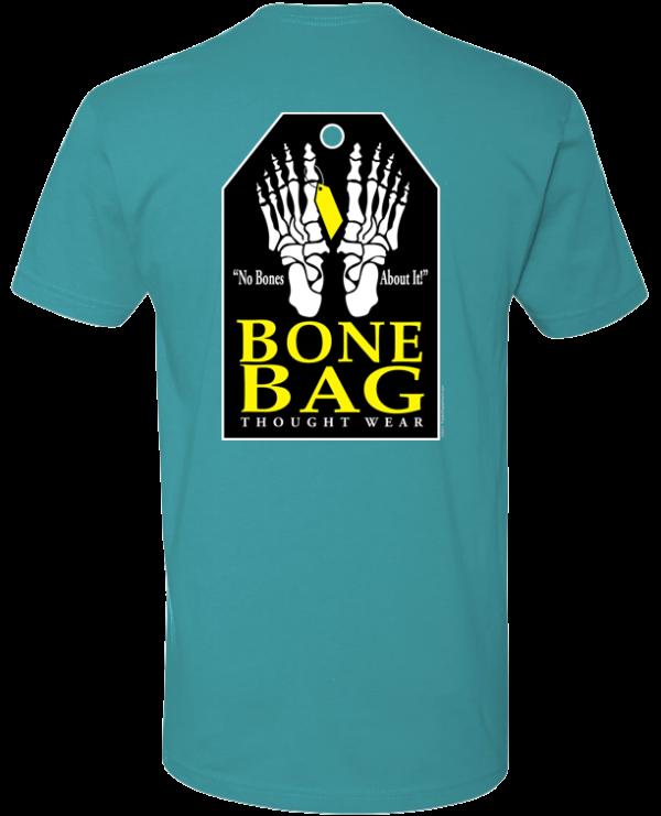 Bone Bag With Toe Tag And Puffy Feet